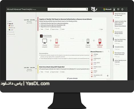 دانلود Microsoft Advanced Threat Analytics 2016 x64 حفظ امنیت سرور شبکه های کامپیوتری