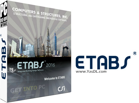 دانلود CSI ETABS 2016 16.0.0 Build 1488 x86/x64 - نرم افزار طراحی و تحلیل سازه های مهندسی