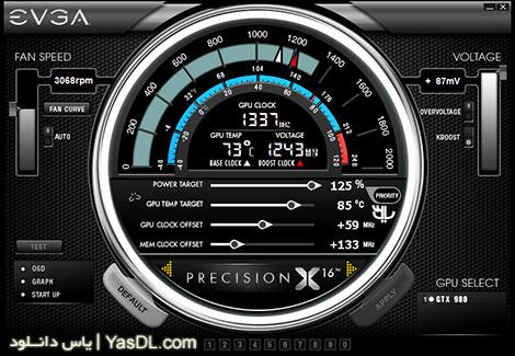 دانلود EVGA Precision X 16 5.3.7 - نرم افزار نمایش اطلاعات سیستم