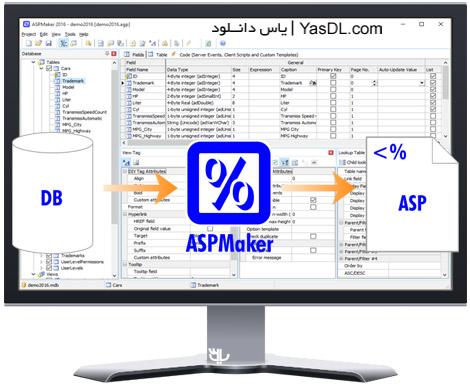 دانلود ASPMaker 2016.0.0 - نرم افزار کدنویسی ASP