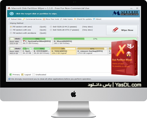 دانلود Macrorit Disk Partition Wiper 1.9.0 Unlimited Edition + Portable - حذف کامل اطلاعات