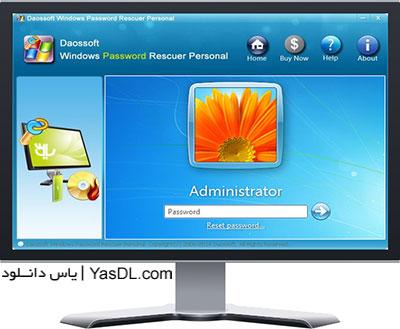 دانلود DaosSoft Windows Password Rescuer Personal 6.0.0.1 - بازیابی پسورد ویندوز