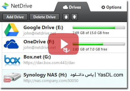 دانلود NetDrive 2.6.1 Build 689 - نرم افزار مدیریت فضاهای ابری