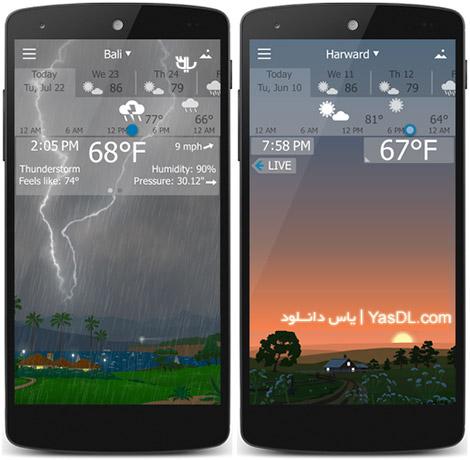 دانلود YoWindow Weather 1.8.15 Paid - نرم افزار هواشناسی اندروید