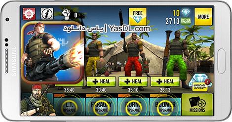 دانلود بازی Guns 4 Hire 1.5 - چهار تفنگدار برای اندروید + پول بی نهایت
