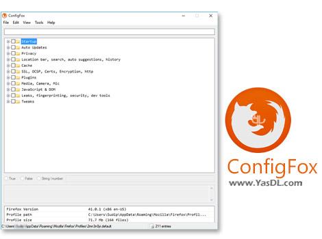 دانلود ConfigFox 1.4.3 x86/x64 - پیکربندی تنظیمات مخفی مرورگر فایرفاکس