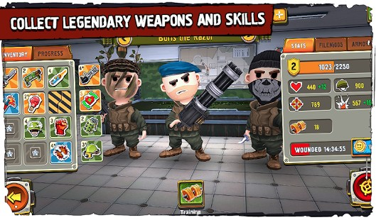 Play Pocket Troops 1.24.8 - Little Soldiers For Android + Data