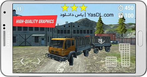 دانلود بازی Trucker Mountain Delivery 1.5.0 - حمل و نقل کوهستانی برای اندروید + دیتا