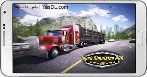 دانلود بازی Truck Simulator PRO 2016 1.7 - شبیه ساز کامیون برای اندروید + دیتا + پول بی نهایت