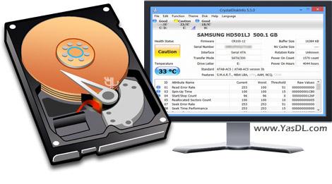 دانلود CrystalDiskInfo 6.6.1 Final + Portable - نمایش اطلاعات هارد دیسک