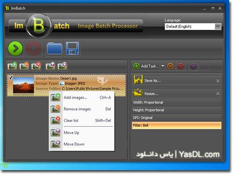 دانلود ImBatch 4.4.0 + Portable - تغییر و ویرایش عکس ها به صورت گروهی