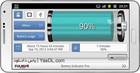 دانلود Battery Indicator Pro 2.6.0 - نمایش وضعیت باطری اندروید