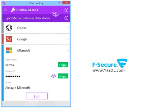 دانلود F-Secure KEY 4.2.104 - مدیریت و تولید پسوردهای قدرتمند