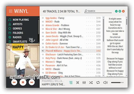 دانلود Winyl 3.2 Final + Portable - نرم افزار پلیر فایل های صوتی