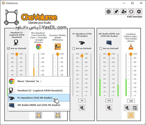 دانلود CheVolume 0.4.1.2 + Portable - تنظیم مجزای میزان ولوم اپلیکیشن ها
