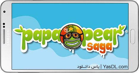 دانلود بازی Papa Pear Saga 1.34.0 - گلابی پاپا برای اندروید + پول بی نهایت