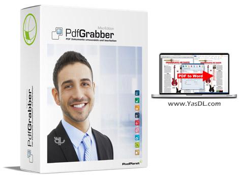 دانلود PixelPlanet PdfGrabber 8.0.0.36 - تبدیل PDF به سایر فرمت ها