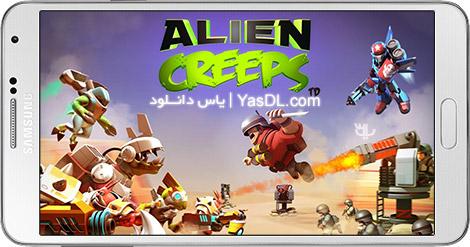 دانلود بازی Alien Creeps TD 2.1.1 - خزش بیگانگان برای اندروید + پول بی نهایت