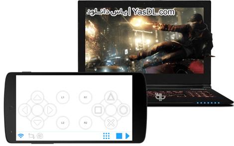 دانلود Mobile Gamepad 1.1.2 - تبدیل گوشی اندروید به دسته وایرلس کامپیوتر