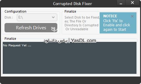 دانلود Corrupted Disk Fixer 1.0.0 - رفع ارورهای هارد دیسک کامپیوتر