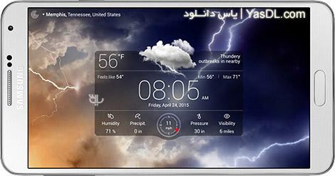 دانلود Weather Live 4.8 Build 106 - هواشناسی حرفه ای برای اندروید