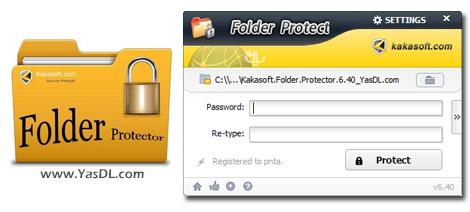 دانلود Kakasoft Folder Protector 6.40 - محافظت از فایل ها و فولدرها در ویندوز
