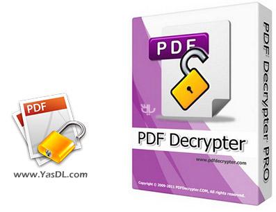 دانلود PDF Decrypter Pro + Portable - نرم افزار حذف پسورد فایل های PDFer