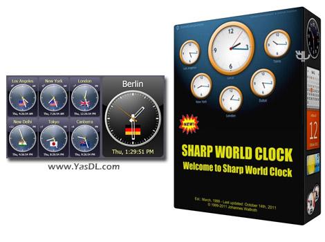 دانلود Sharp World Clock 9.3.2 - نمایش زنده ساعت کشورهای جهان