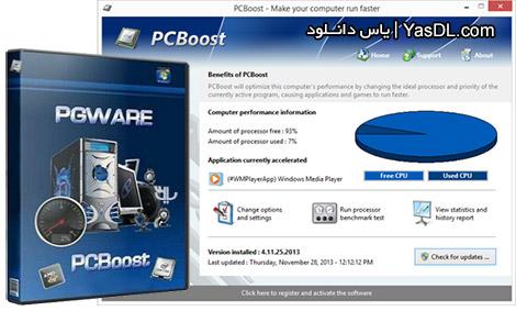دانلود PGWare PCBoost 5.10.24.2016 - اجرای سریع و بهینه برنامه و بازی ها