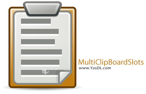 دانلود MultiClipBoardSlots 1.01 + Portable - نرم افزار مدیریت کلیپ بورد