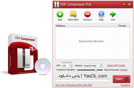 دانلود PDFZilla PDF Compressor Pro 3.1.2 + Portable - کاهش حجم فایل های PDF