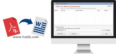 دانلود Adept PDF to Word Converter 3.70 + Portable - تبدیل اسناد PDF به Word