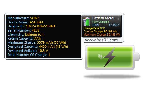 دانلود Battery Monitor 7.1 - نمایش اطلاعات مفید از باتری لپ تاپ