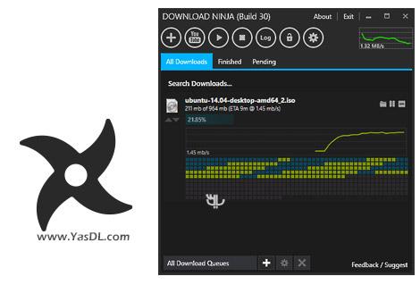 دانلود Ninja Download Manager Build 34 - مدیریت دانلود نینجا