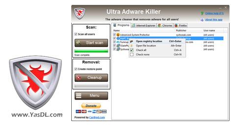 دانلود Ultra Adware Killer 5.0.0.0 - حذف برنامه های تبلیغاتی مزاحم