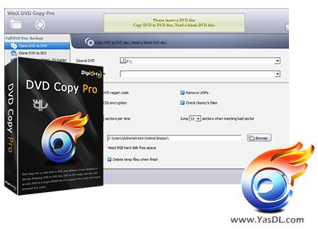 دانلود WinX DVD Copy Pro 3.9.5 - نرم افزار کپی کردن DVD