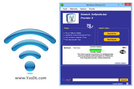 دانلود Wireless Wizard 6.5 + Portable - نرم افزار بهینه سازی شبکه های WiFi