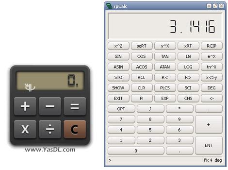 دانلود rpCalc 0.8.0 + Portable - ماشین حساب پیشرفته برای ویندوز