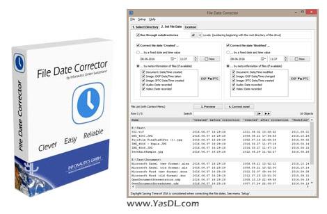 دانلود Infonautics File Date Corrector 1.17 - اصلاح تاریخ ایجاد / ویرایش فایل ها در ویندوز