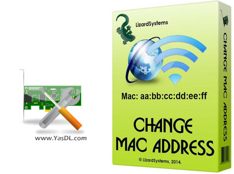 دانلود LizardSystems Change MAC Address 21.06 - تغییر مک آدرس کارت شبکه