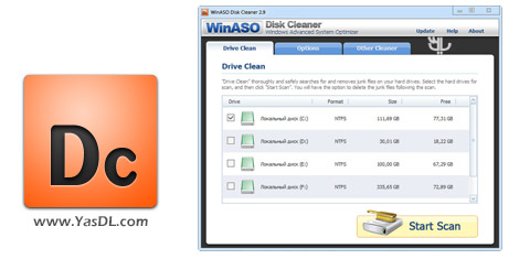 دانلود WinASO Disk Cleaner 3.0.0 + Portable - نرم افزار پاک سازی هارد دیسک