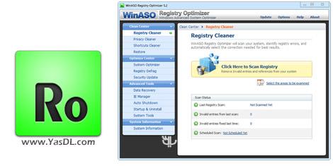 دانلود WinASO Registry Optimizer 5.3.0 + Portable - بهینه سازی رجیستری ویندوز