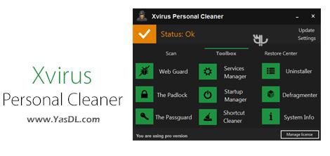 دانلود Xvirus Personal Cleaner Pro 3.1.1 - نرم افزار پاک سازی سیستم