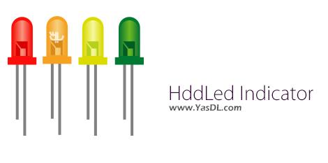 دانلود HddLed Indicator 1.2 + Portable - نشانگر LED برای نظارت بر هارد دیسک