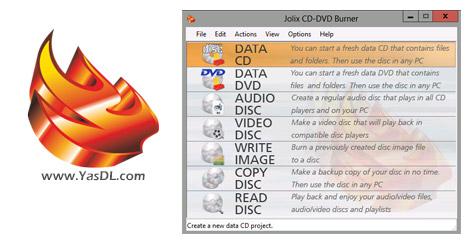 دانلود Jolix CD-DVD Burner 2.5.0 + Portable - رایت آسان دیسک های CD/DVD