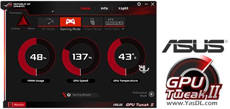 ASUS GPU Tweak II 2.0.8.0 ASUS Graphics Card Overclock
