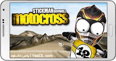 دانلود بازی Stickman Downhill - Motocross 2.6 - موتور کراس استیکمن برای اندروید