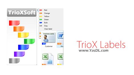 دانلود TrioX Labels 1.0.0.4 - اضافه کردن لیبل های رنگی به فایل ها
