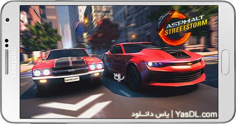 دانلود بازی Asphalt Street Storm Racing 1.1.3d - اتومبیل رانی آسفالت برای اندروید + دیتا