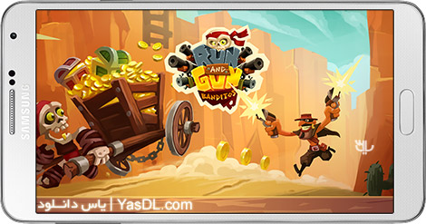 دانلود بازی Run & Gun BANDITOS 1.0 - فرار و شلیک: راهزن ها برای اندروید + پول بی نهایت